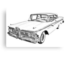1959 Edsel Ford Ranger Illustration Canvas Print