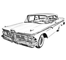 1959 Edsel Ford Ranger Illustration Photographic Print