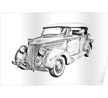 1936 Ford Phaeton Convertible Illustration  Poster