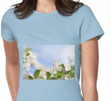 Flowering Cerasus cherry tree Womens Fitted T-Shirt