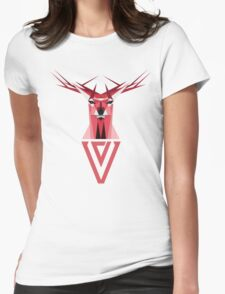 Origami Deer Womens Fitted T-Shirt