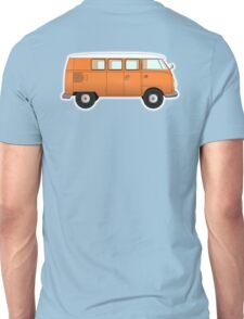 VW, combi, Volkswagen, Van, VW, Camper, Orange, Split screen, 1966 Volkswagen, Kombi (North America) Unisex T-Shirt