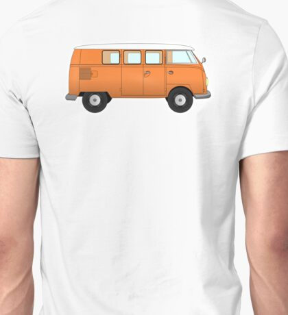 VW, combi, Volkswagen, Van, VW, Camper, Orange, Split screen, 1966 Volkswagen, Kombi (North America) Unisex T-Shirt