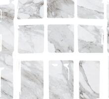 Alpha Chi House- White Marble Sticker