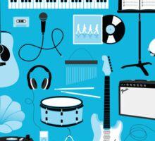 Blue Music Things Sticker