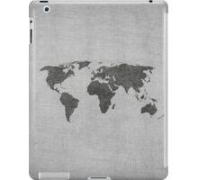 vintage world map on grey background iPad Case/Skin
