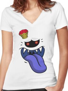 King of the Boos Women's Fitted V-Neck T-Shirt