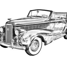 1938 Cadillac Lasalle Illustration by KWJphotoart