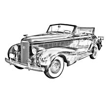 1938 Cadillac Lasalle Illustration Photographic Print