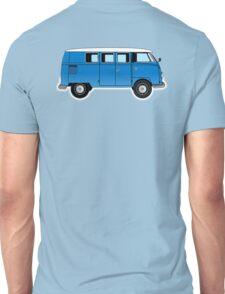 VW, combi, Volkswagen, Van, VW, Camper, Blue, Split screen, 1966 Volkswagen, Kombi (North America) Unisex T-Shirt
