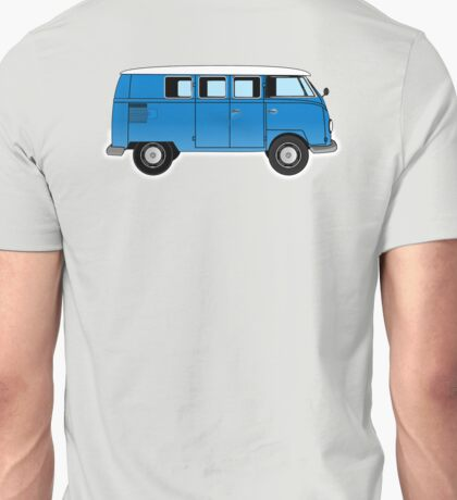 VW, combi, Volkswagen, Van, VW, Camper, Blue, Split screen, 1966 Volkswagen, Kombi (North America) Unisex T-Shirt