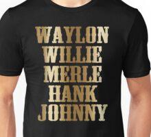 best t shirt Waylon Jennings Willie Nelson Merle Haggard Hank Williams Johnny Cash best T shirt Unisex T-Shirt