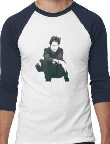 Tom Waits Image Men's Baseball ¾ T-Shirt