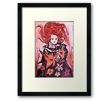 Emma the Mourning Doll Framed Print