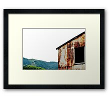 Rusty Surface - Japan Framed Print