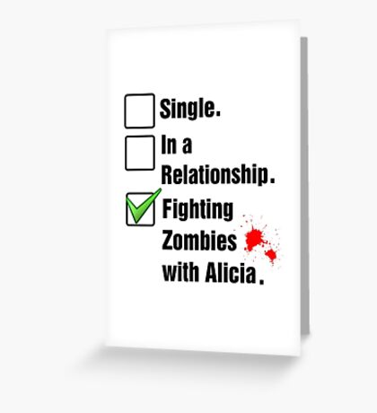 Fighting Zombies Greeting Card