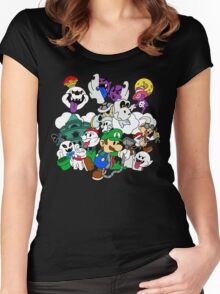 Luigi's Paper Mansion Color Ver. Women's Fitted Scoop T-Shirt