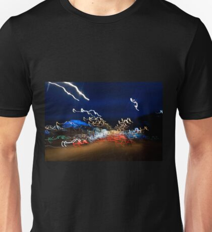 Cars driving motion night lights Unisex T-Shirt