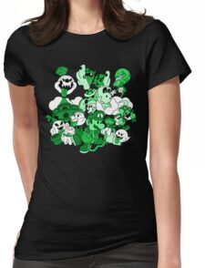 Luigi's Paper Mansion Green Ver. Womens Fitted T-Shirt