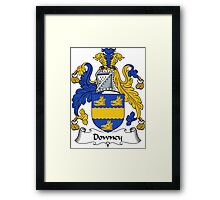 Downey Coat of Arms / Downey Family Crest Framed Print