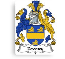 Downey Coat of Arms / Downey Family Crest Canvas Print