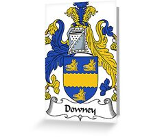 Downey Coat of Arms / Downey Family Crest Greeting Card
