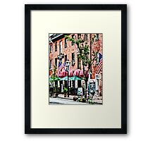 Alexandria Street With Cafe Framed Print