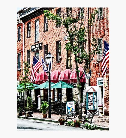 Alexandria Street With Cafe Photographic Print