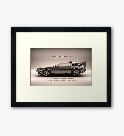 Back To The Futur Framed Print
