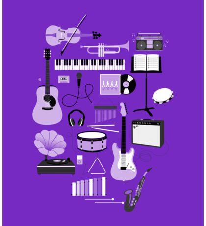 Purple Music Things Sticker