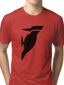 Woodpecker Bird Silhouette Tri-blend T-Shirt