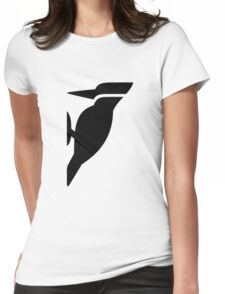Woodpecker Bird Silhouette Womens Fitted T-Shirt