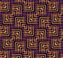 Orange Purple Pattern Hallow-One by webgrrl