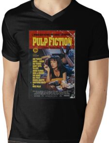 The Pulp Fiction Poster Mens V-Neck T-Shirt