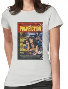 The Pulp Fiction Poster Womens Fitted T-Shirt