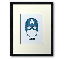 Captain America - Liberty Mask Framed Print