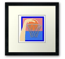 Basketball Dunk Framed Print