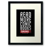 Read More Comic Books - Comichaus  Framed Print