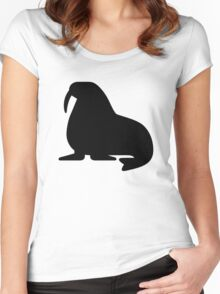 Walrus Silhouette Women's Fitted Scoop T-Shirt