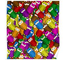 Cute owls pattern Poster