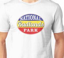 BADLANDS NATIONAL PARK SOUTH DAKOTA MOUNTAINS HIKING CAMPING HIKE CAMP OVAL Unisex T-Shirt
