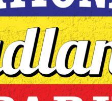 BADLANDS NATIONAL PARK SOUTH DAKOTA MOUNTAINS HIKING CAMPING HIKE CAMP OVAL Sticker