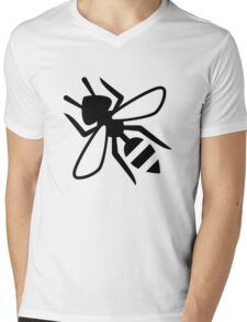 Wasp Silhouette Mens V-Neck T-Shirt