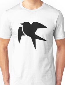 Swallow Bird Silhouette Unisex T-Shirt