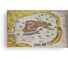 Vintage Map of Venice (1649)  Canvas Print