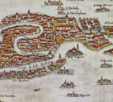 Vintage Map of Venice (1649)  Sticker
