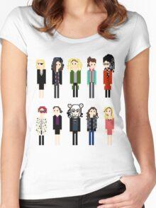 Pixel Clones - 10 Women's Fitted Scoop T-Shirt