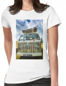 VW camper van Womens Fitted T-Shirt