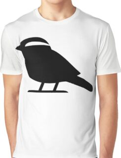 Sparrow Bird Silhouette Graphic T-Shirt