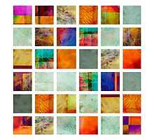 Color Block Collage - original abstract art Photographic Print